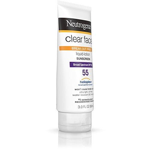 neutrogena clear face loción líquida protector solar para l