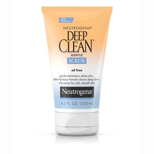 neutrogena deep clean exfoliante suavizant gentle scrub acné