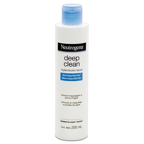 neutrogena deep clean loción demaquillante x 200 ml