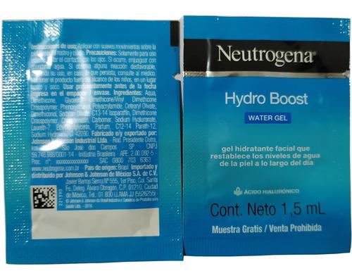 neutrogena hydro boost gel hidratante facial 10 sobres