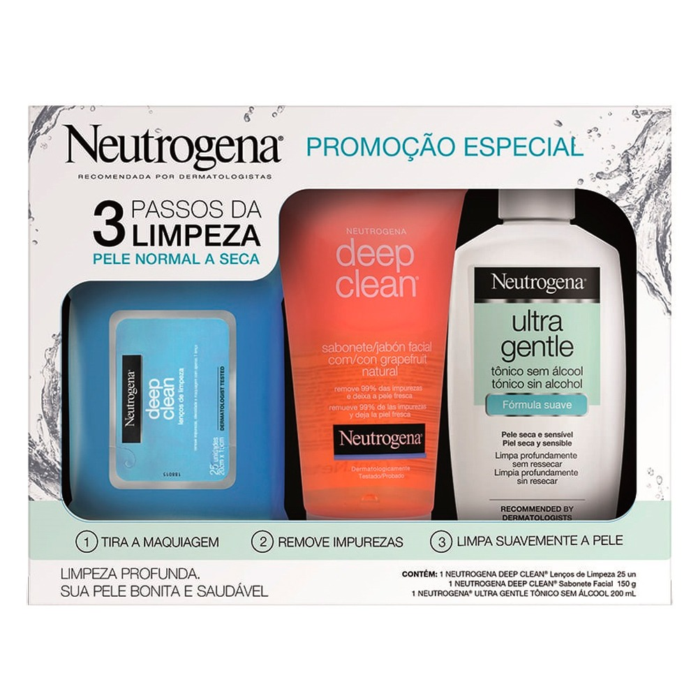 Neutrogena Rotina De Limpeza Para Pele Normal Ou Seca Kit R 59 90