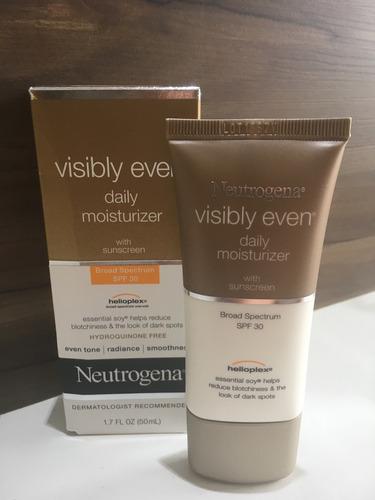 neutrogena visibly even fps30 hidratante iluminador