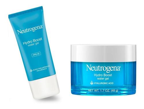 neutrogena water gel + water gel día fps25 hydro boost