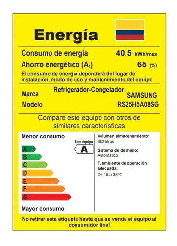 nevecon samsung rs25h5a08sg/co
