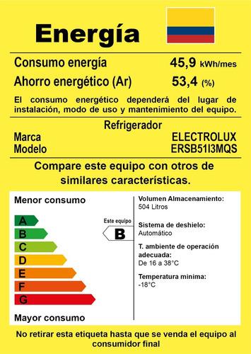 nevecón side by side electrolux ersb51i3mqs 568 litros