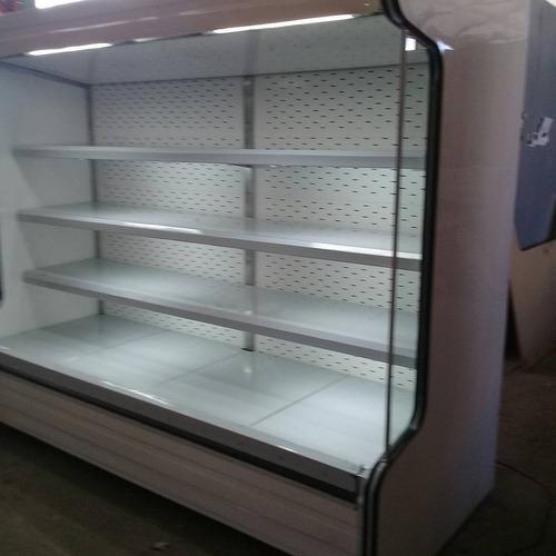 nevera abierta supermercado para lacteos y charcuteria