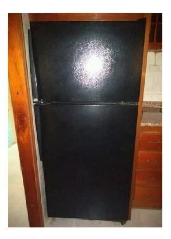 nevera amana de 2 puertas horizontal negra