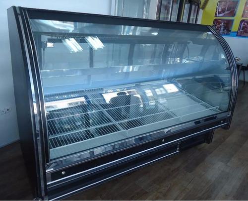 nevera charcutera vidrio curvo 1.9m+unidad-somos fabricantes
