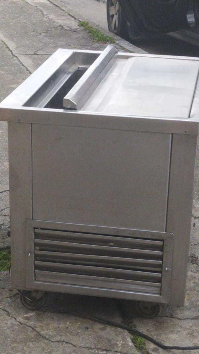 nevera congelador completamente en acero industrial con rued
