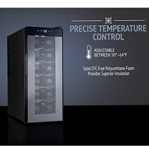 nevera enfriador de vino termoeléctrica 12 botella