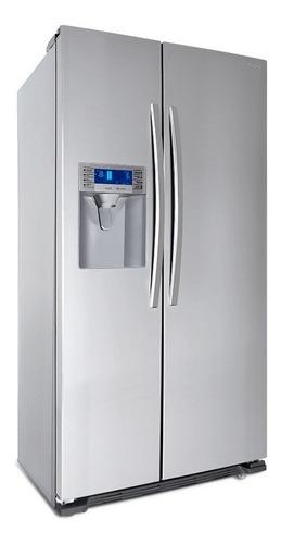 nevera refrigerador side by side viotto 2 puertas acero inox