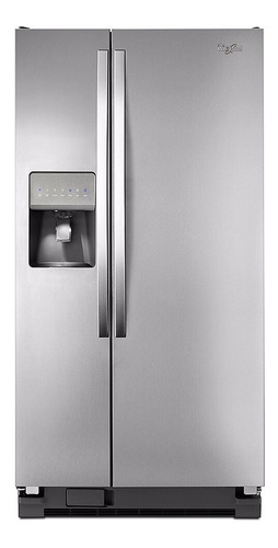nevera refrigerador side by side whirlpool acero inoxidable