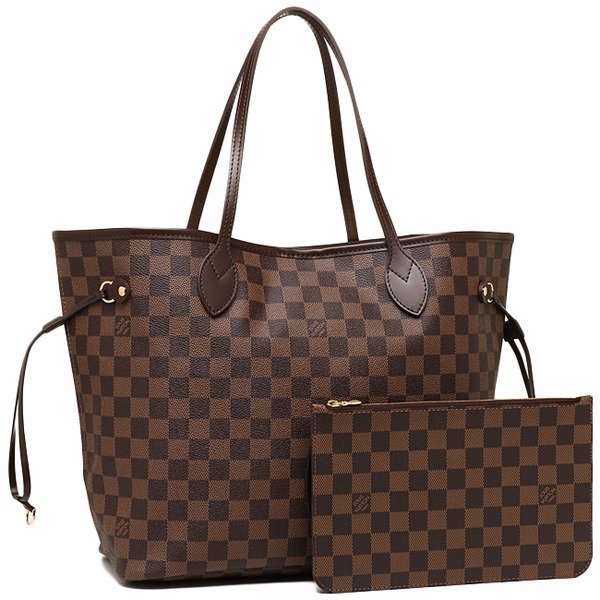 e2d865b57dfb6 Neverfull Ebene Louis Vuitton Couro Com Pochete Mm Ou Gm - R  1.290 ...