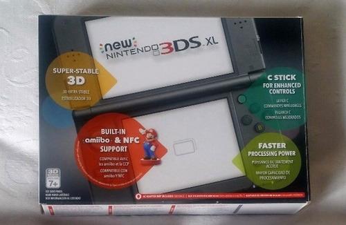 new 3ds xl nintendo + cartão sd 32gb + case + caixa