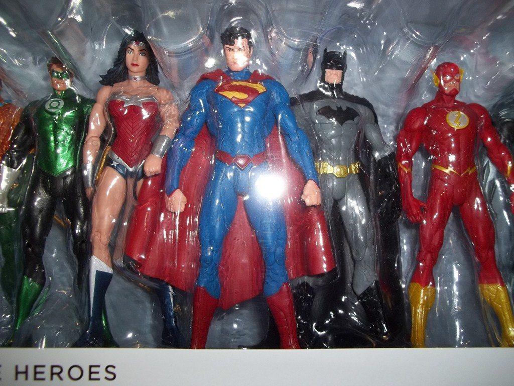New 52 Justice League 7 Pack Liga De La Justicia Superman