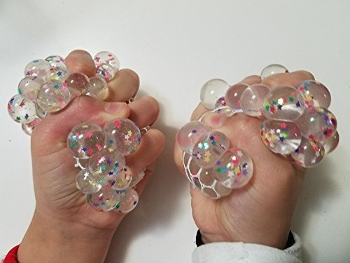 new arrivals star sequins led light crystal clear slime squi