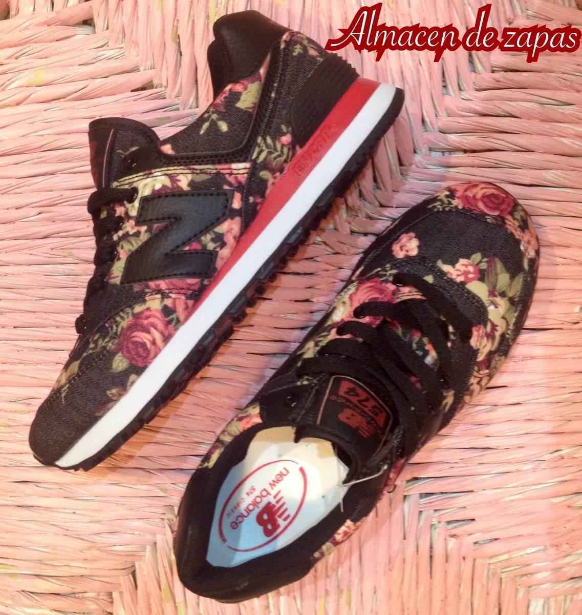 zapatillas new balance de mujer con flores