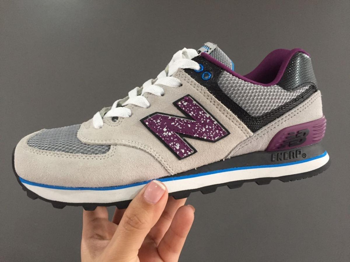 acheter populaire a19cc af3dd New Balance 574 Gris-violeta Dama 100% Original
