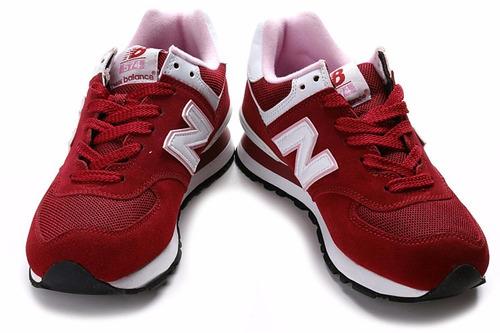 new balance 574 rojo