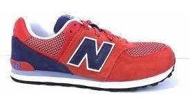 new balance zapatillas rojas de piel