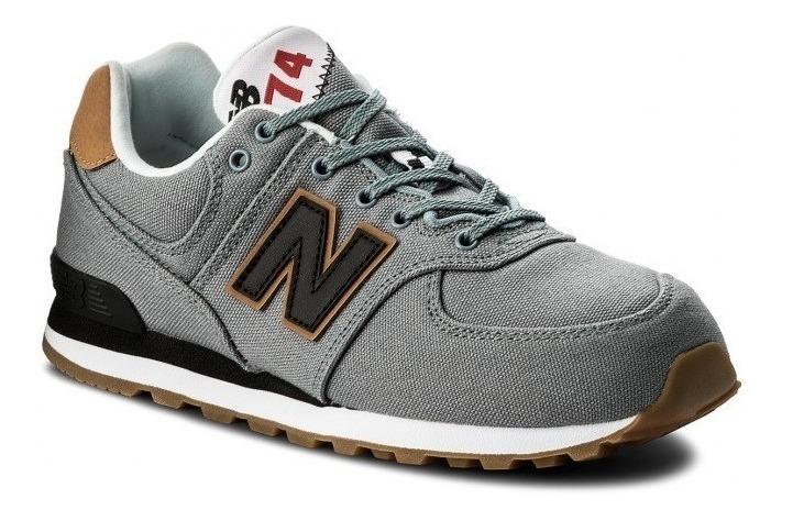 New Balance Zapatilla Lifestyle Hombre-niño Gc574t2 Gris/neg