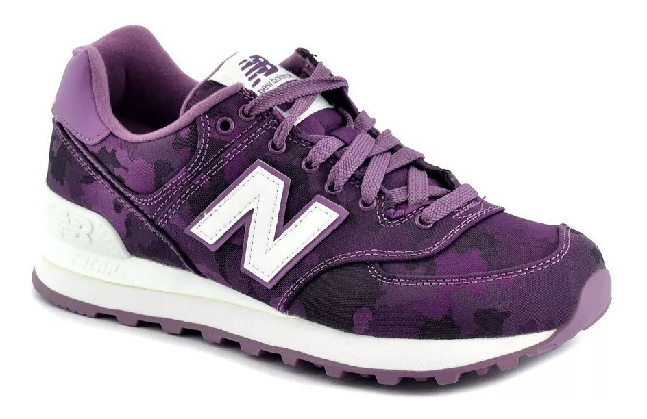 New Balance Zapatilla Lifestyle Mujer 574 Camo Purpura