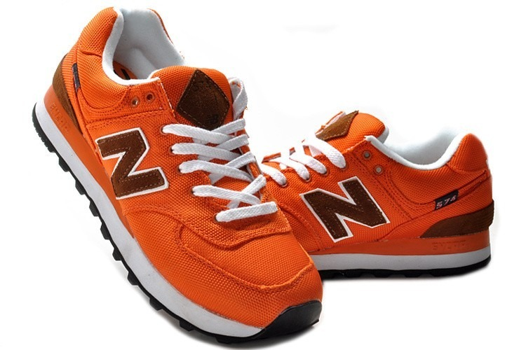 new balance 574 naranja