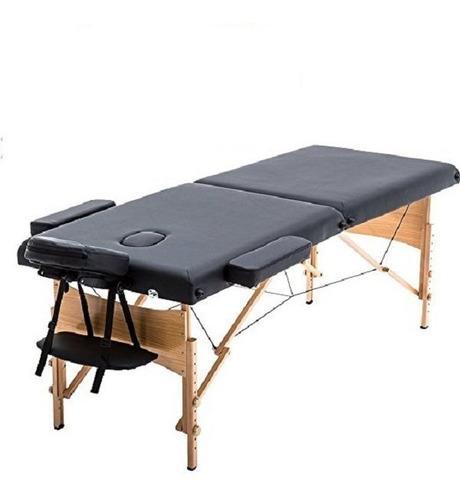 new black 84  mesa de masaje portátil camilla spa facial