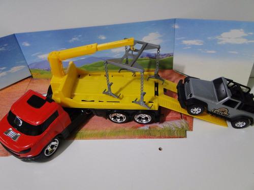 new caminhão brinquedo guincho munk plataforma jeep carreta