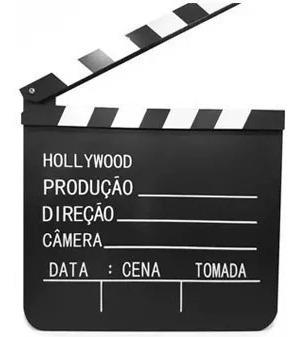 new claquete profissional camera ação gravando telecine fox