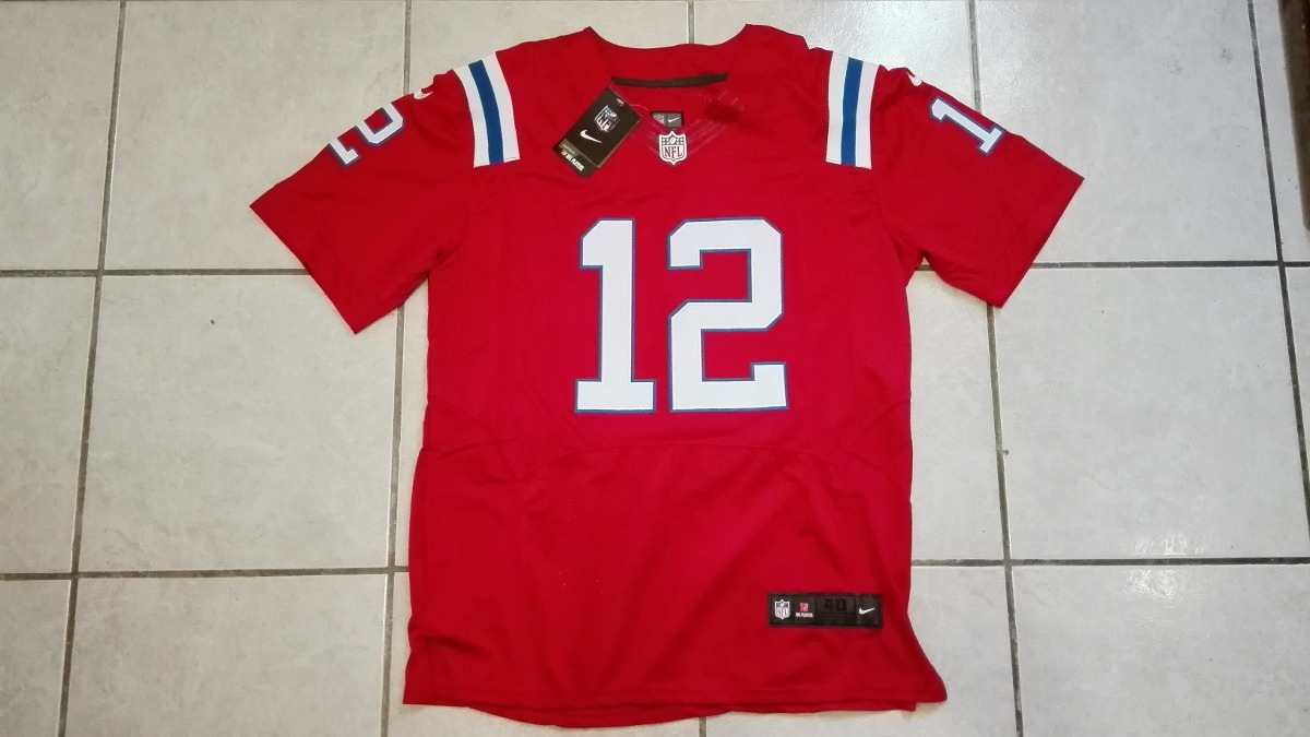 f61b1601970 new england patriots tom brady jersey rojo bordado talla m. Cargando zoom.