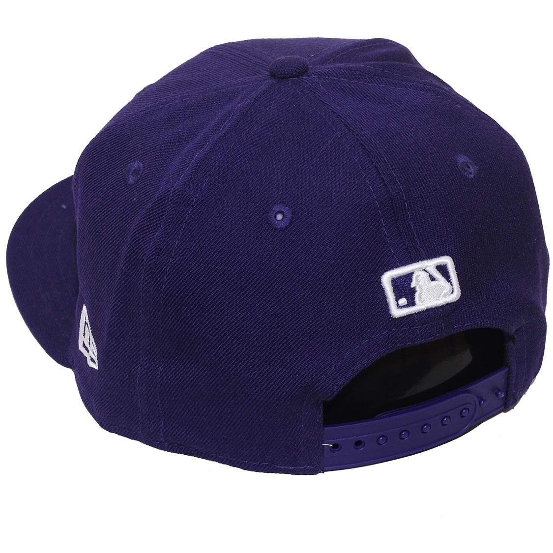 Boné New Era Aba Reta Snapback Mlb Ny Yankees Colors Roxo - R  169 ... b656d6e325a