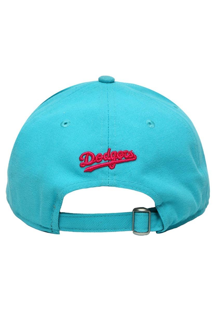 Boné New Era Azul Rosa Los Angeles Dodgers Aba Reta Snapback - R  60 ... bd23bde497e