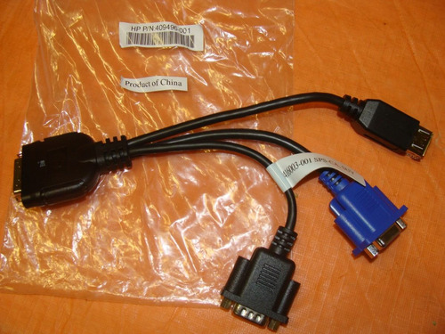 new hp local  i/o server diagnostic cable hp p/n: 409496-001
