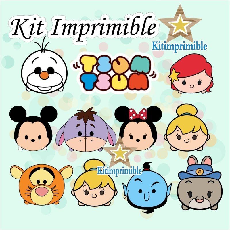 New° Kit Imprimible Tsum Tsum Disney + Candy Bar Etiquetas - $ 297 ...