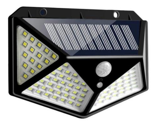new lámpara solar de 100led, tres modos de iluminación 128°