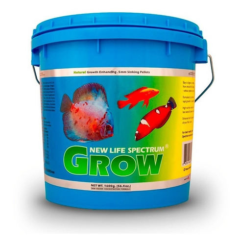 new life spectrum grow 1600gr - alimento premium peces