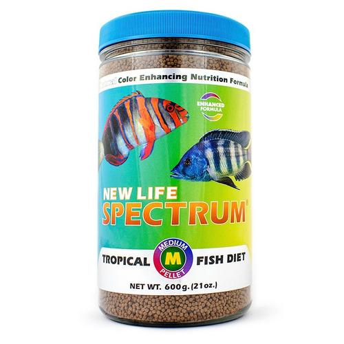 new life spectrum med pellet 600gr - alimento premium peces