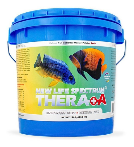 new life spectrum thera-a med 2200gr -alimento premium peces