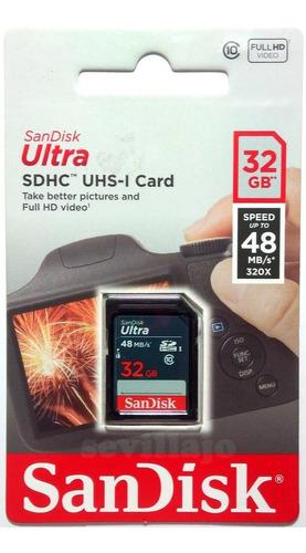 new memoria sandisk ultra sdhc 32gb clase 10 320x uhs-i