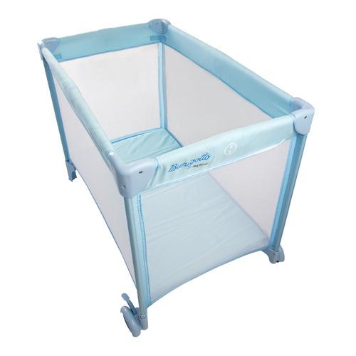 new mini berço para bebe portátil cercado azul - burigotto