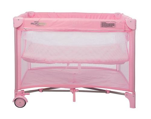 new mini berço portátil cercado pink - burigotto