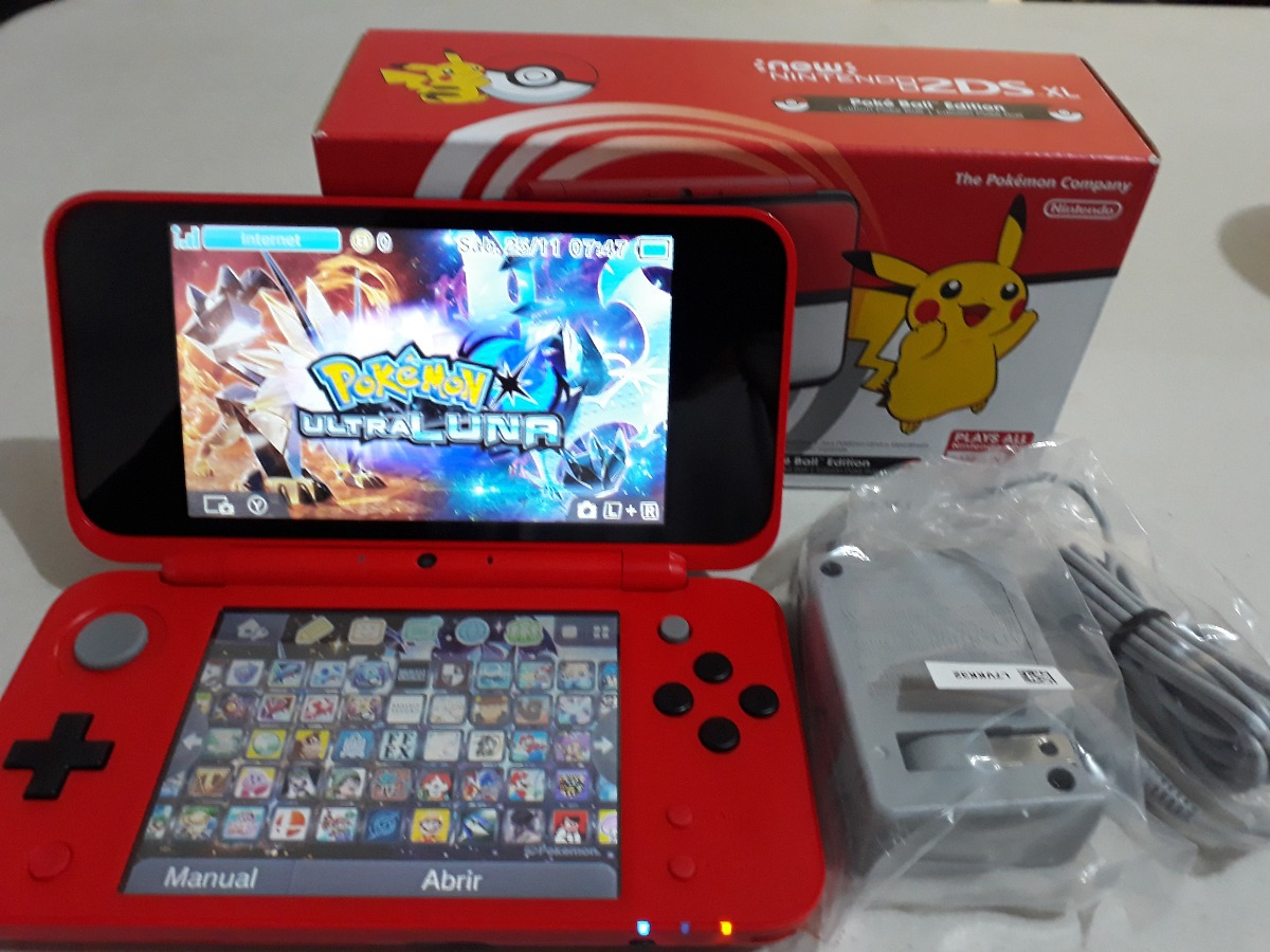 New Nintendo 2ds Xl Poke Ball 130 Juegos 64 Gb Temas
