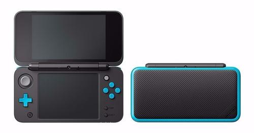 new nintendo 2ds xl preto com azul novo lacrado