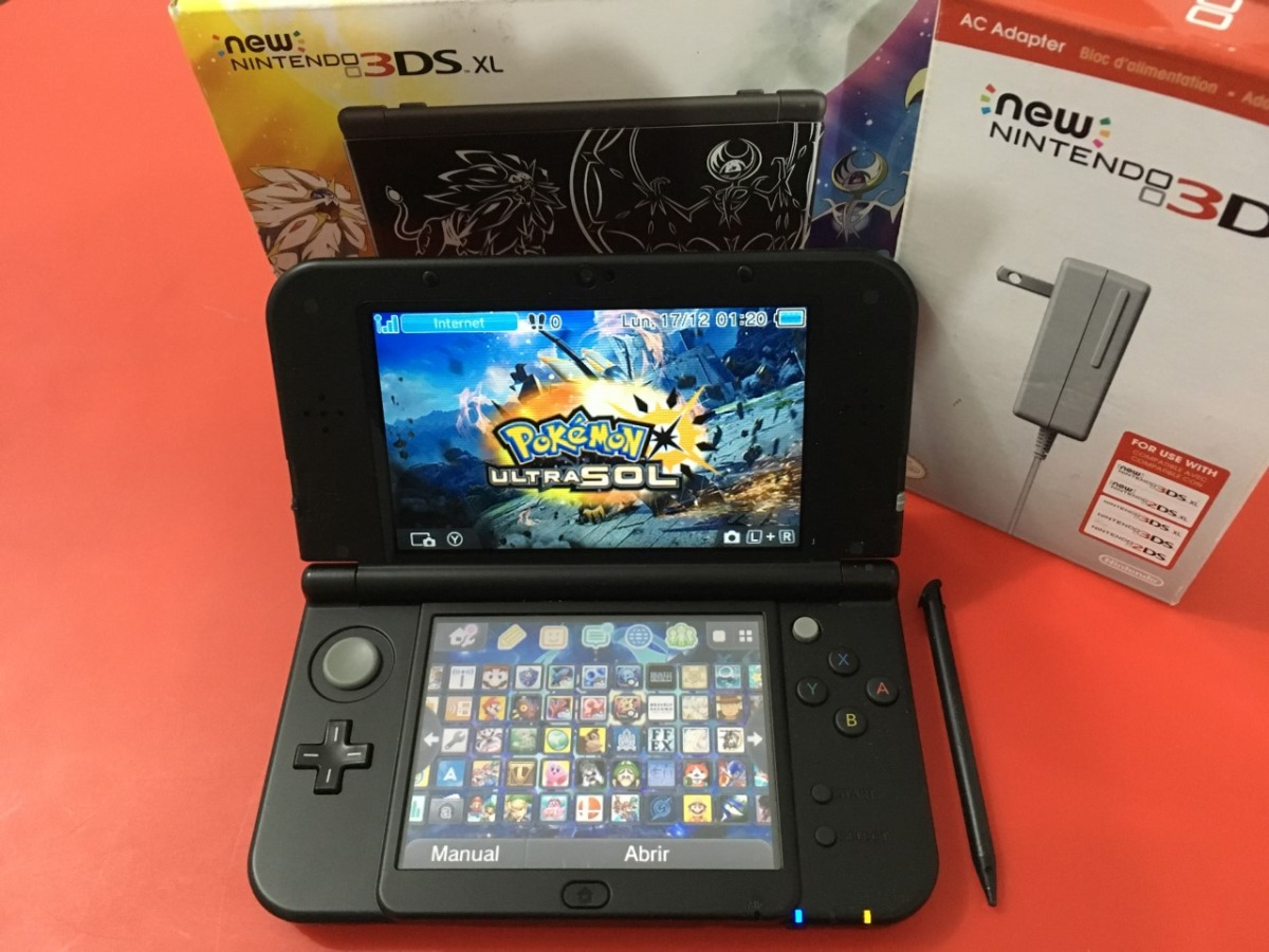 New Nintendo 3ds Xl 130 Juegos 64 Gb Temas Cargador