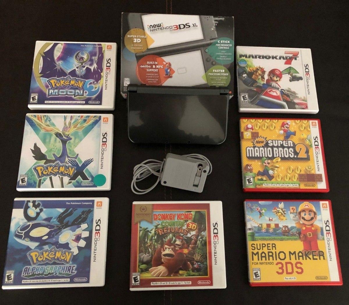 New Nintendo 3ds Xl Con 7 Juegos Y Cargador 12 750 00 En Mercado