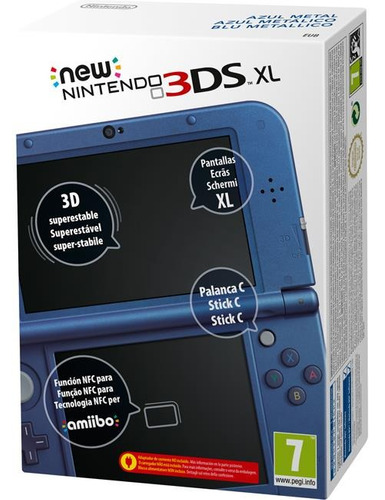 new nintendo 3ds xl console + cartão 4gb + ar cards