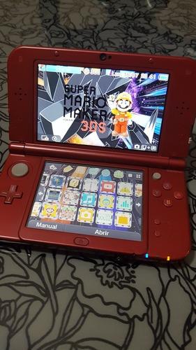 New Nintendo 3ds Xl Rojo Con Freeshop Y Memoria De 8 Gb