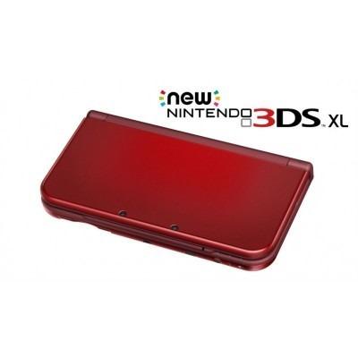 new nintendo 3ds xl vermelho original lacrado + fonte brinde