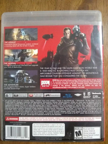 new order ps3* wolfenstein: the